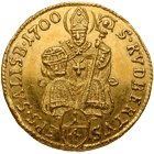 Holy Roman Empire, Archbishopric Salzburg, Johann Ernst of Thun and Hohenstein, 1/4 Ducat 1700 (obverse)