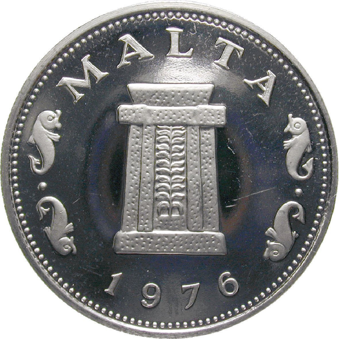 Republik Malta, 5 Cent 1976 (obverse)