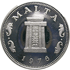 Republic of Malta, 5 Cents 1976 (obverse)