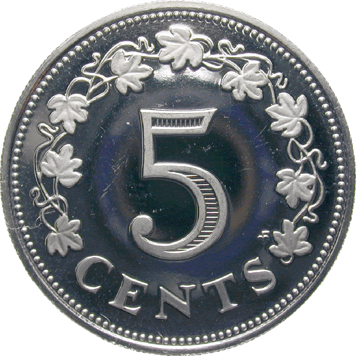 Republic of Malta, 5 Cents 1976 (reverse)