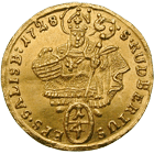 Holy Roman Empire, Archbishopric Salzburg, Leopold Anton of Firmian, 1/4 Ducat 1728 (obverse)