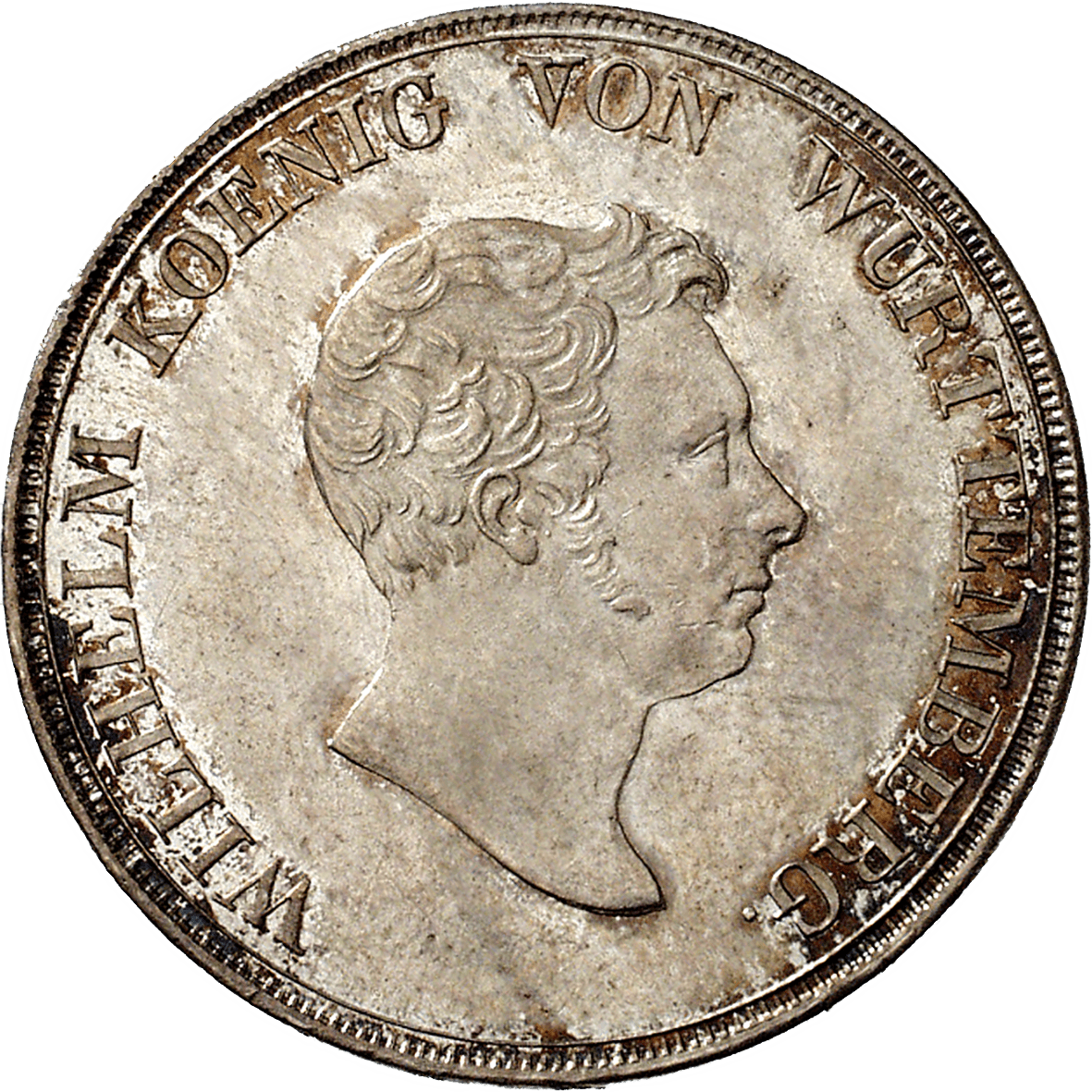 Kingdom of Württemberg, Wilhelm I, Crown Taler 1825 (obverse)