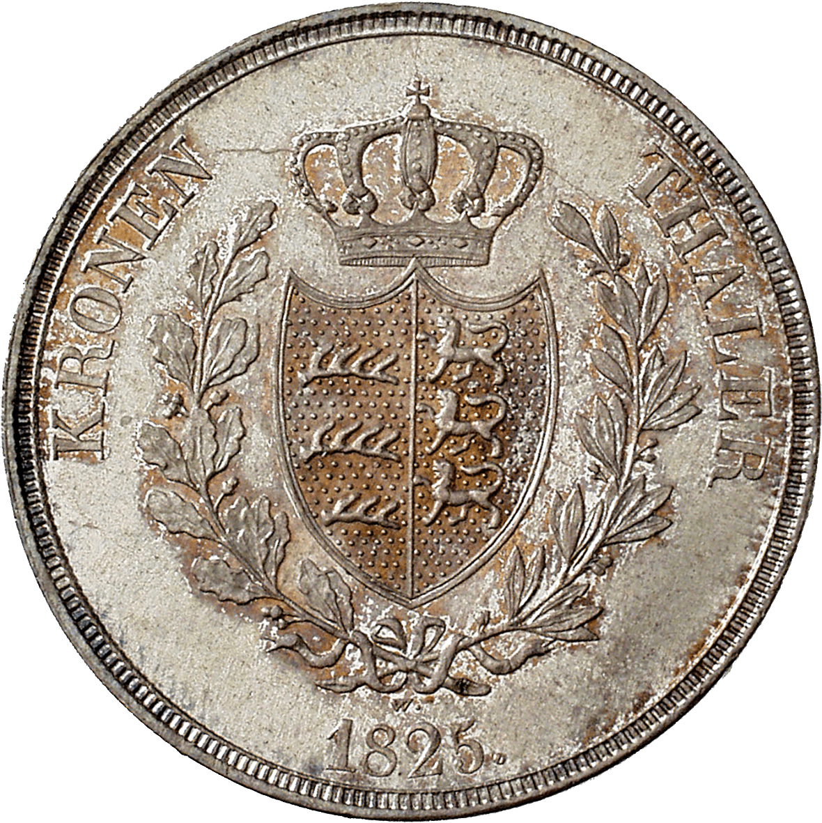 Kingdom of Württemberg, Wilhelm I, Crown Taler 1825 (reverse)