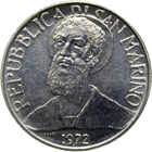 Republic of San Marino, 5 Lire 1972 (obverse)