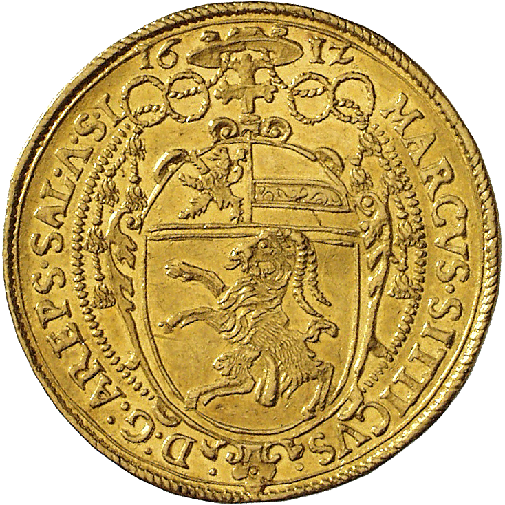 Holy Roman Empire, Archbishopric Salzburg, Marcus Sitticus of Hohenems, 4 Ducats 1612 (reverse)