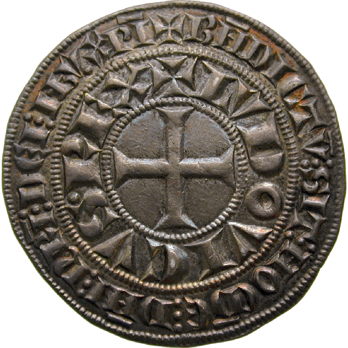 Kingdom of France, Louis IX, Gros tournois (obverse)