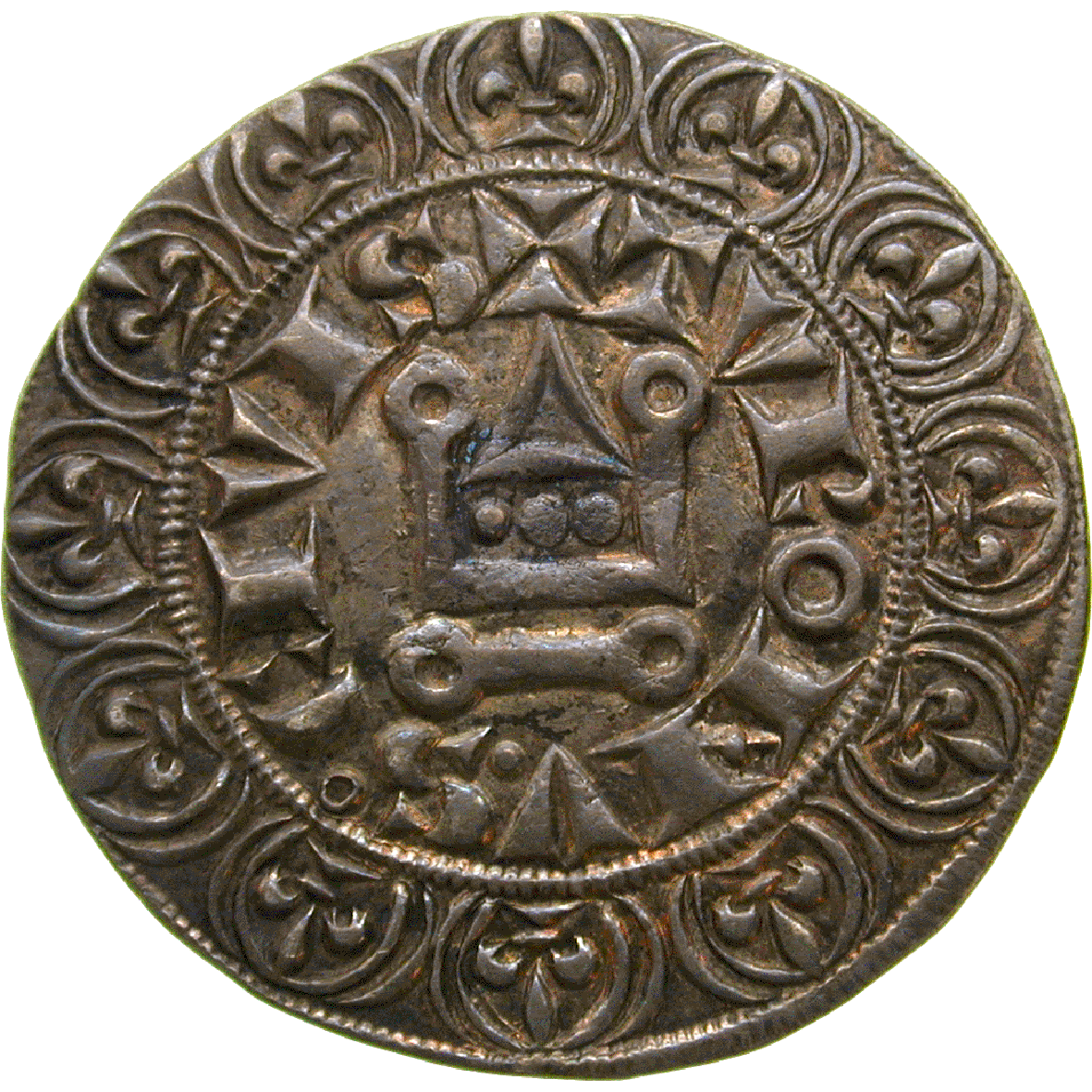 Kingdom of France, Louis IX, Gros tournois (reverse)