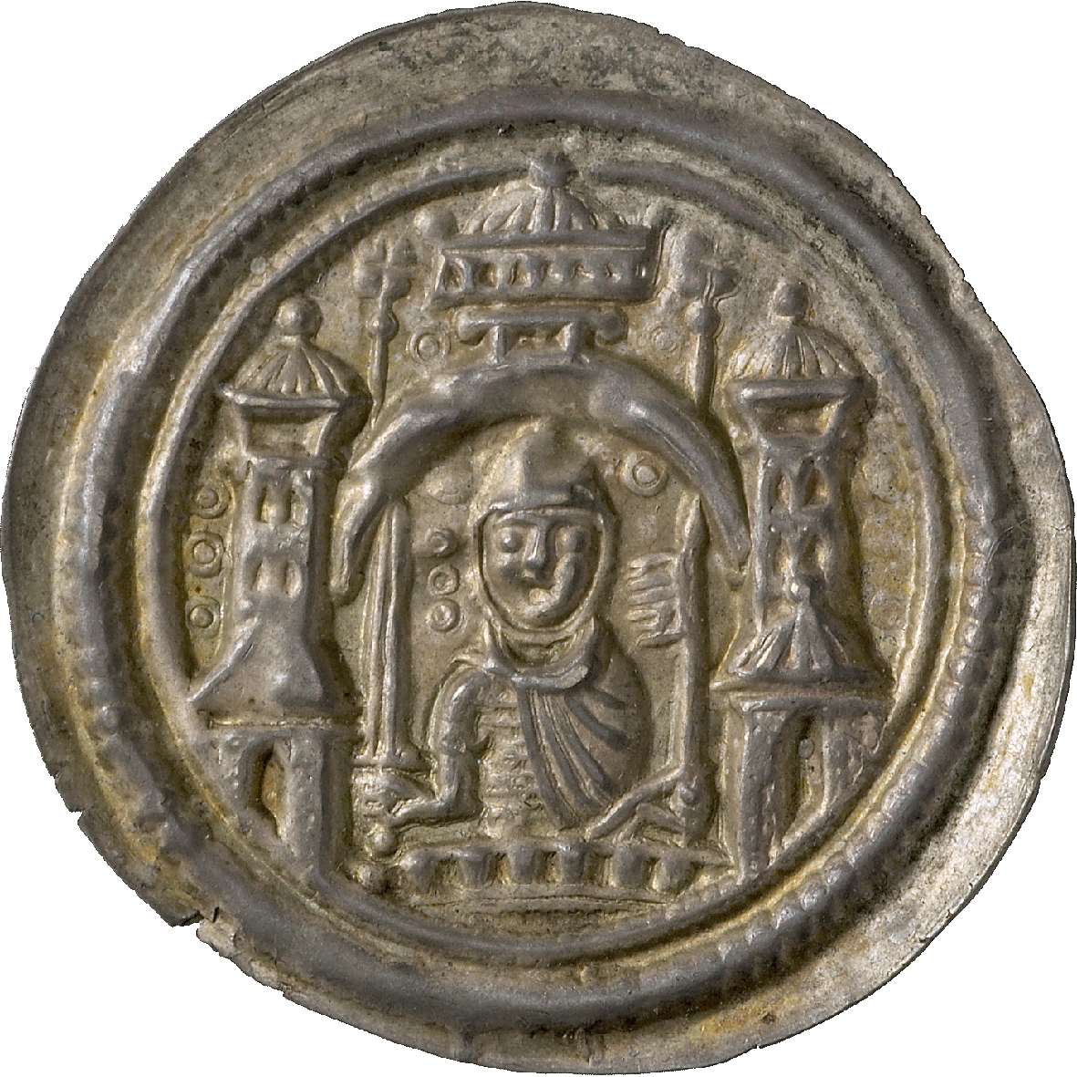 Holy Roman Empire, Margraviate of Brandenburg, Albert the Bear, Bracteate (obverse)