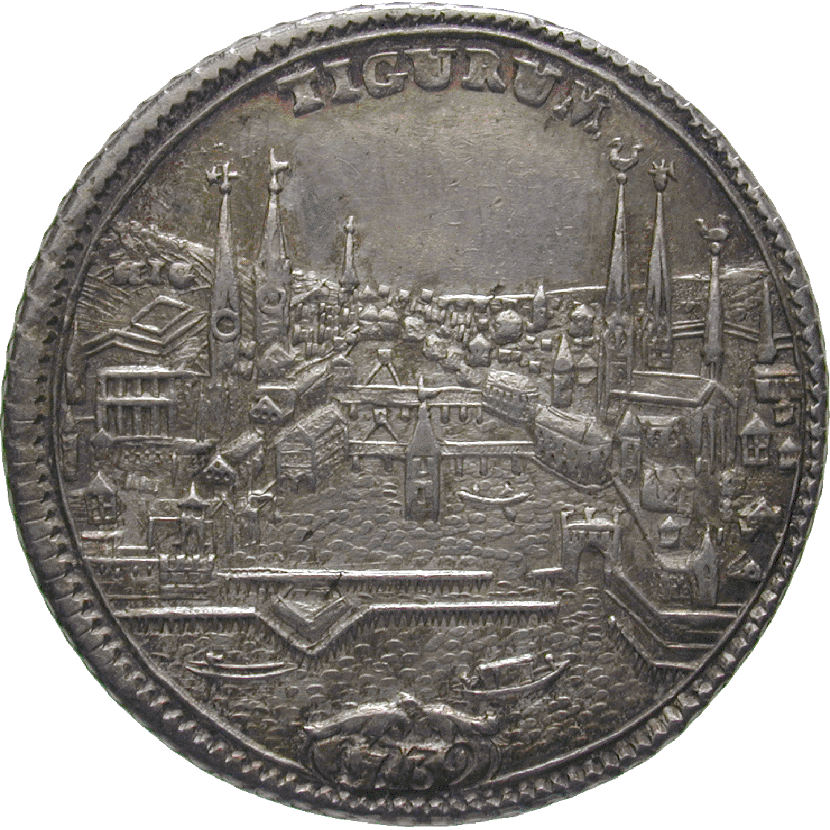 Republic of Zurich, 1/2 Taler 1739 (reverse)