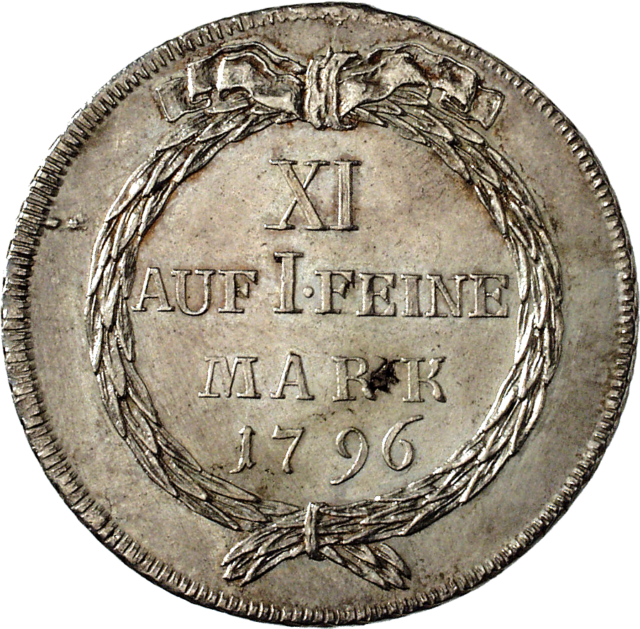 Republic of Zurich, Taler 1796 (reverse)