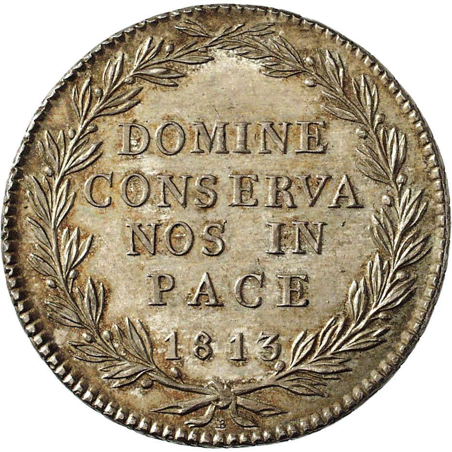 Canton of Zurich, Time of Mediation, 40 Batzen 1813 (reverse)
