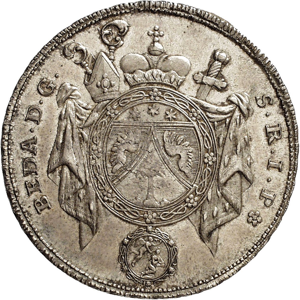 Abbey of St Gall, Beda Angehrn of Hagenwil, Convention Taler 1780 (obverse)