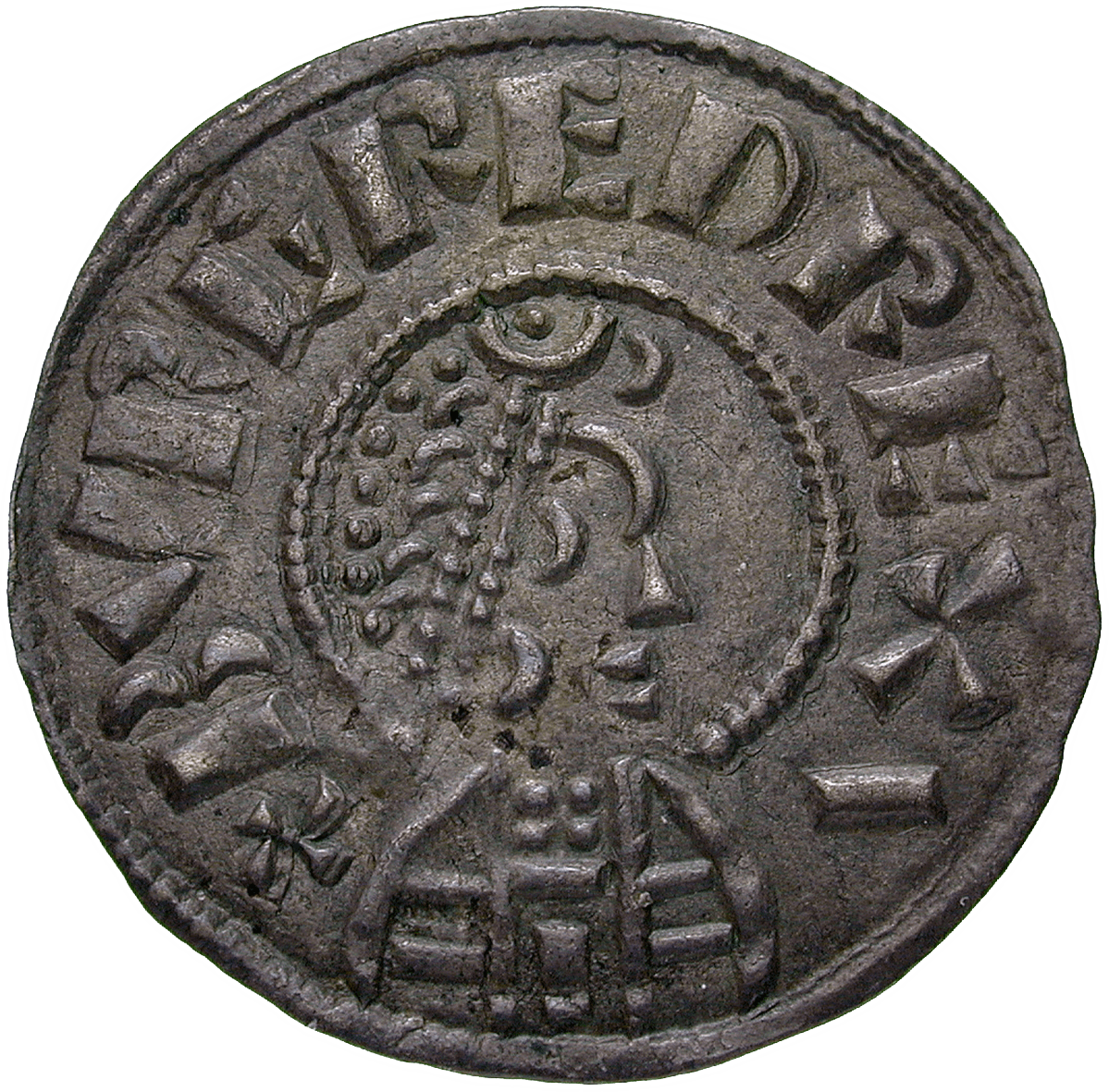 Britain, Kingdom of Mercia, Burgred, Penny (obverse)