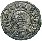 Kingdom of England, Alfred the Great, Penny (obverse)