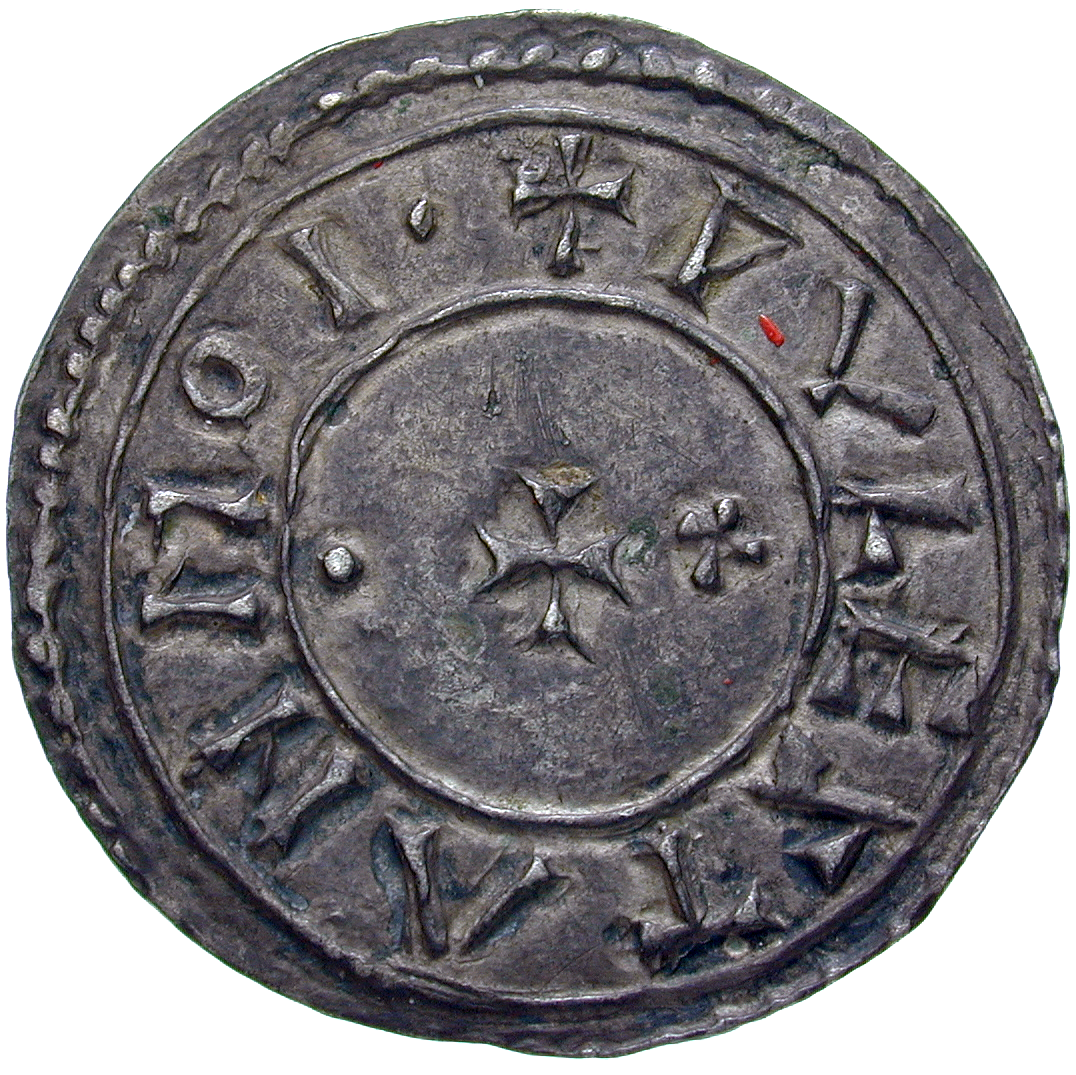 Kingdom of England, Edgar, Penny (reverse)