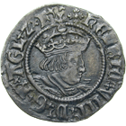 Kingdom of England, Henry VIII, Half Groat (obverse)