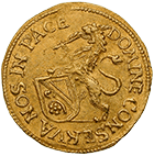 Republic of Zurich, 1/4 Ducat 1677 (obverse)