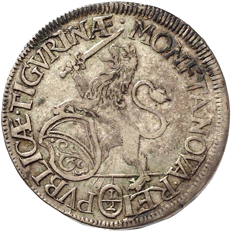 Republic of Zurich, Half Taler 1673 (obverse)