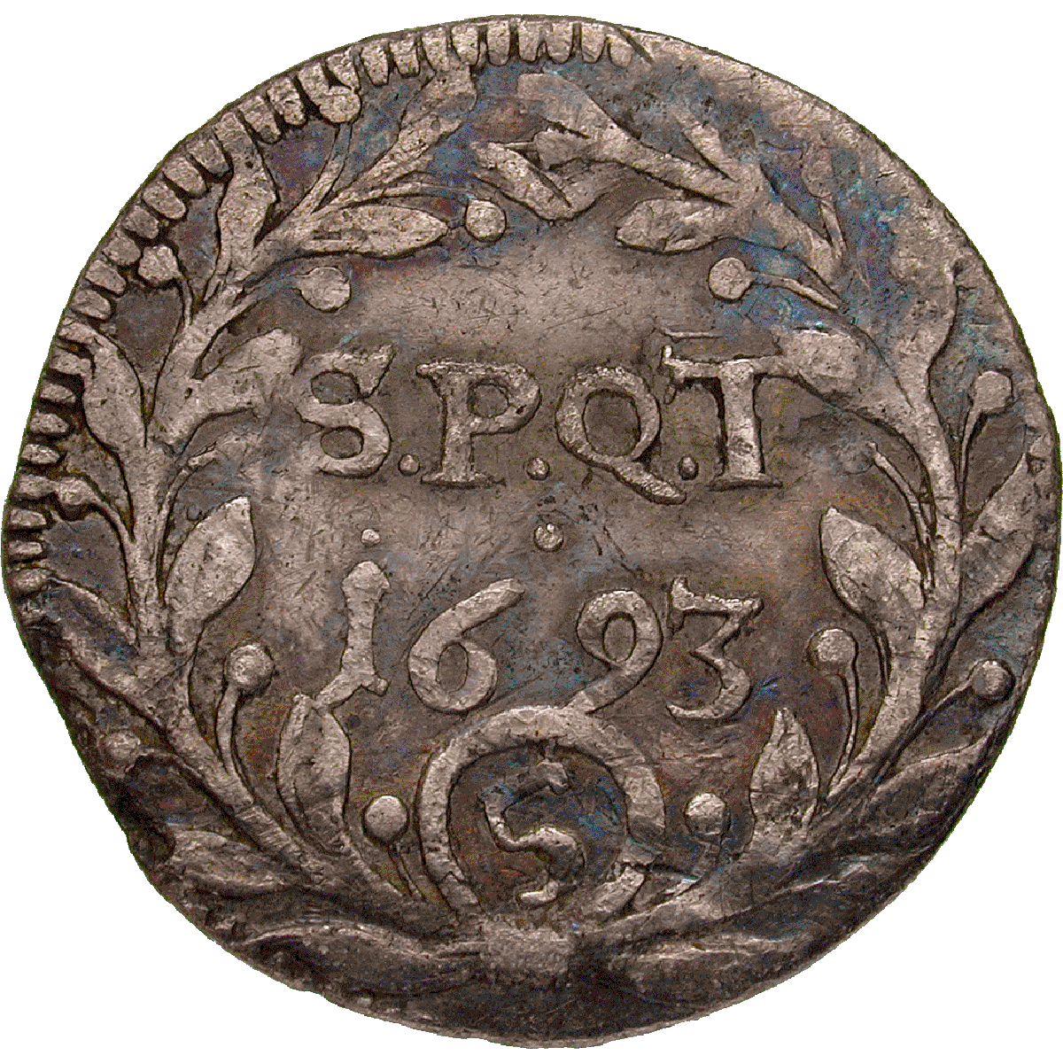 Republic of Zurich, 5 Schillings 1693 (reverse)