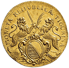 Republic of Zurich, Double Ducat 1716 (obverse)