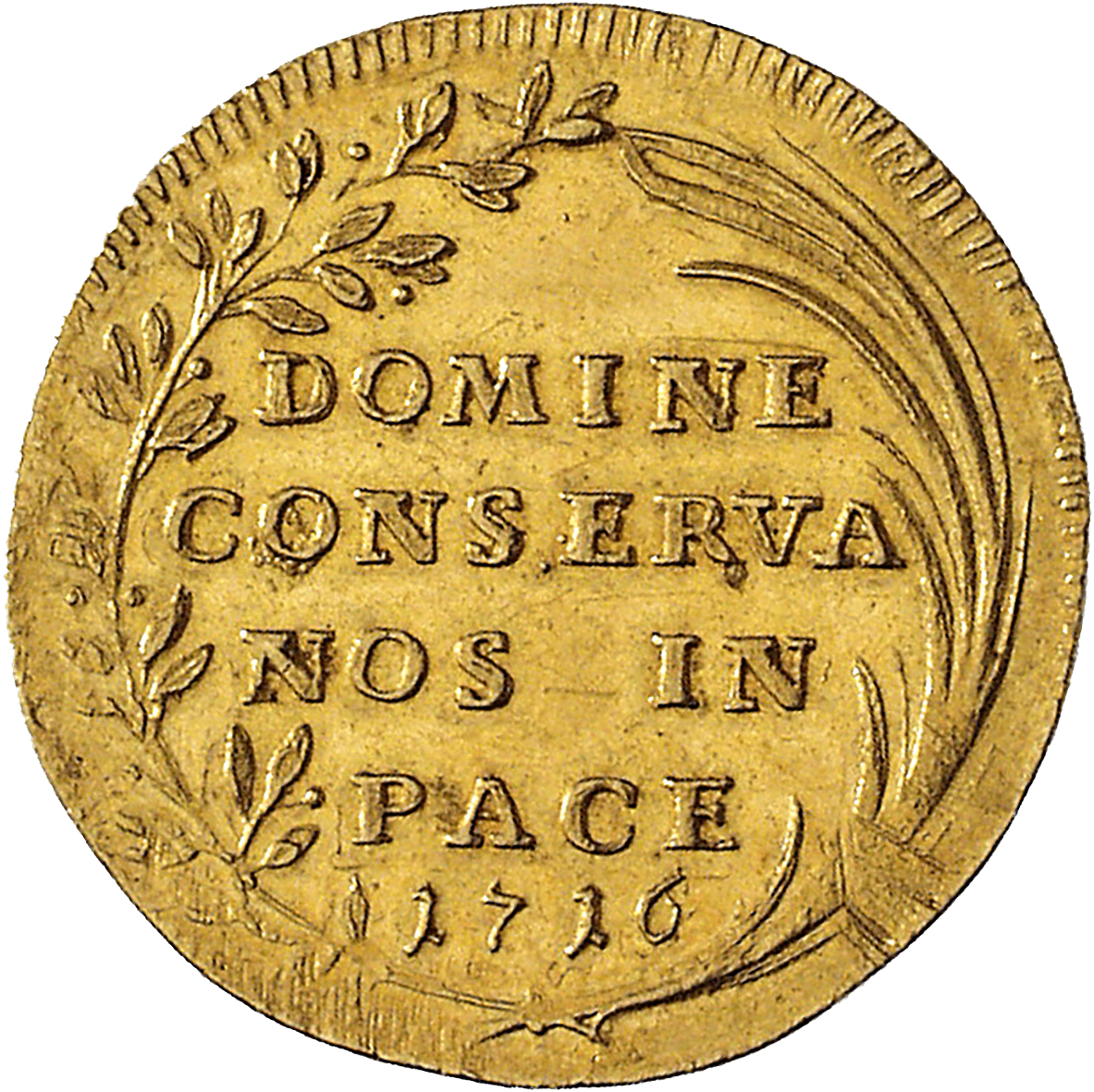 Republic of Zurich, Double Ducat 1716 (reverse)