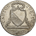 Canton of Zurich, Time of Mediation, 20 Batzen 1813 (obverse)
