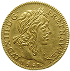 Kingdom of France, Louis XIII, 1/2 Louis d'or 1641 (obverse)