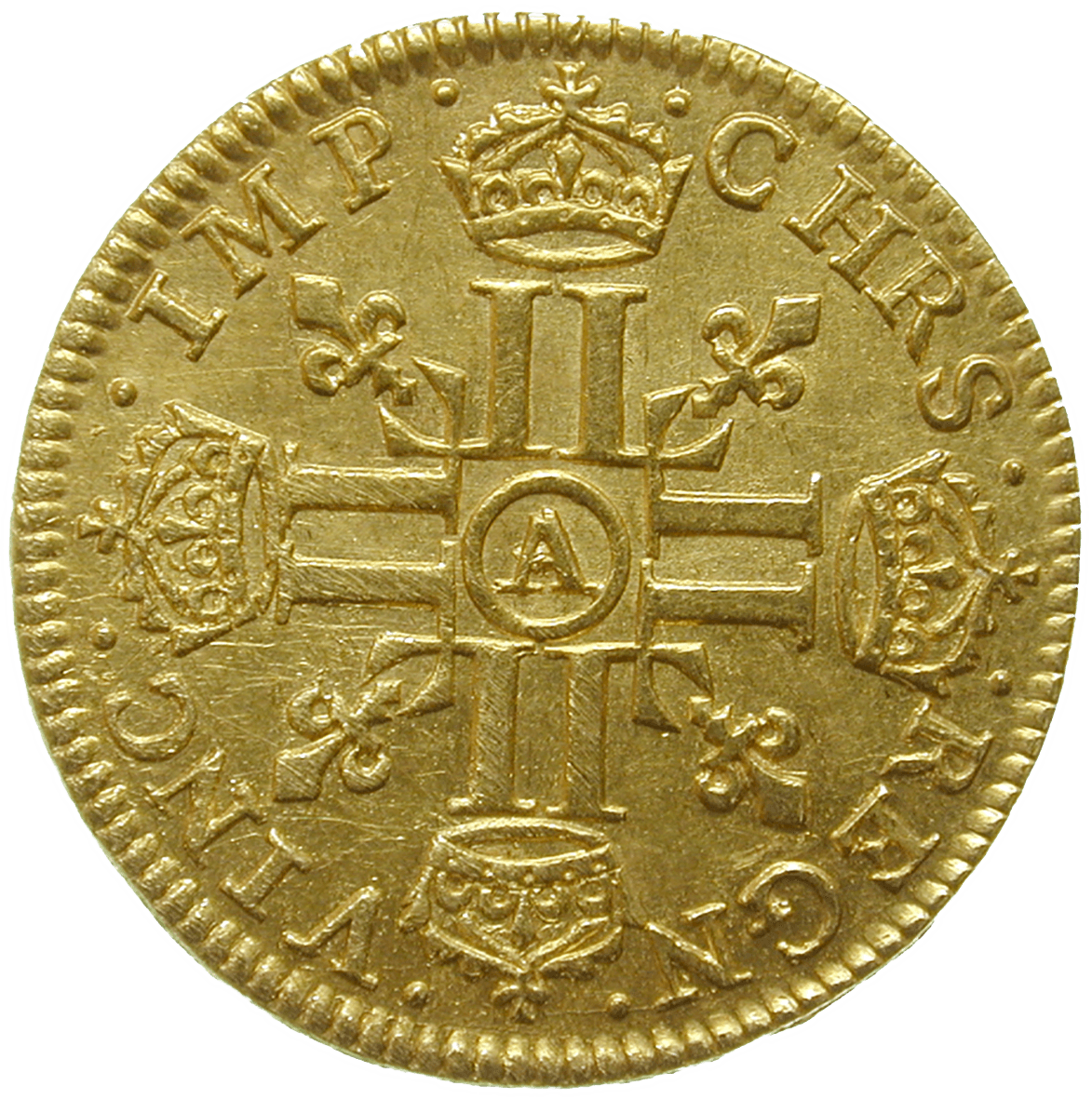 Kingdom of France, Louis XIII, 1/2 Louis d'or 1641 (reverse)