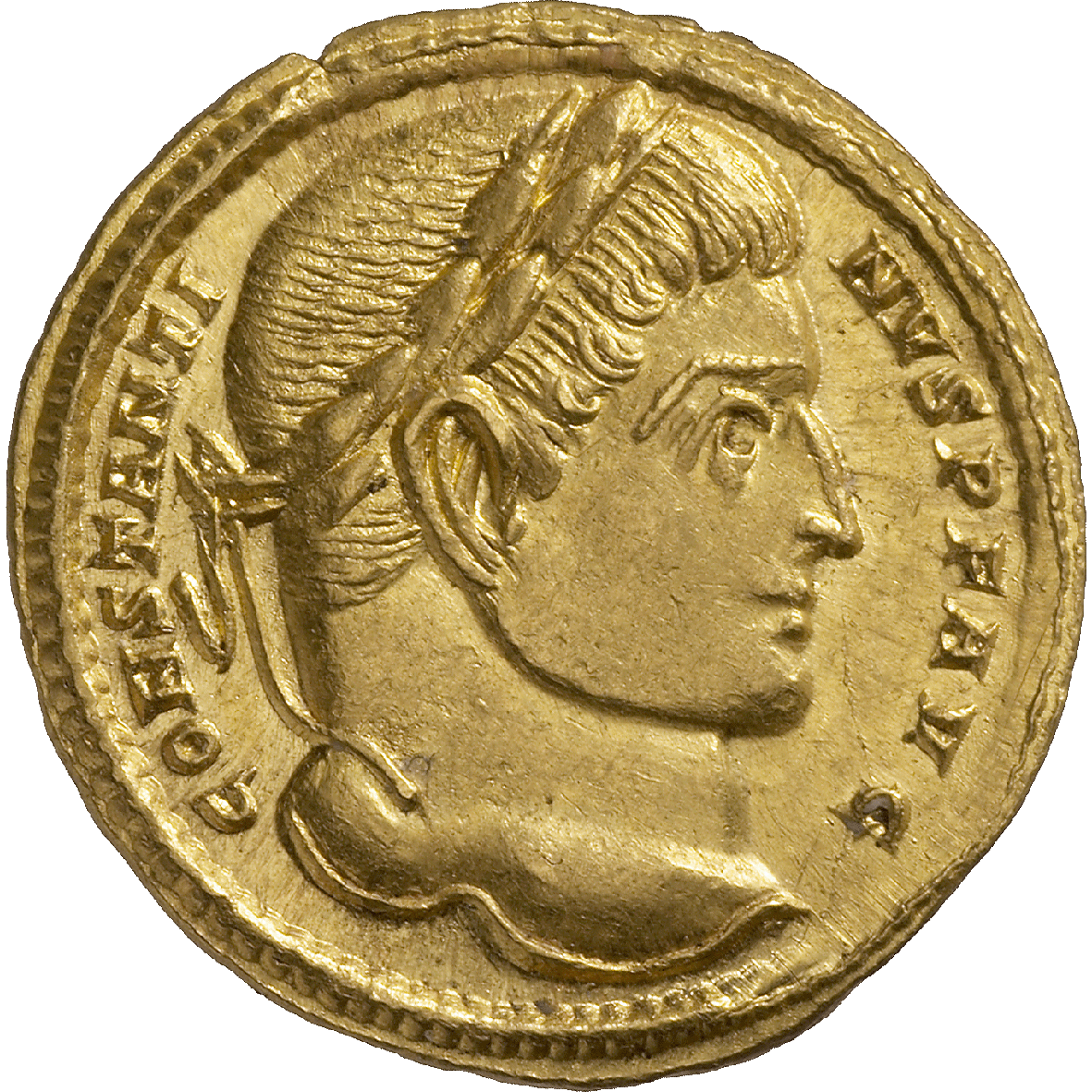 Roman Empire, Constantine I the Great, Solidus (obverse)