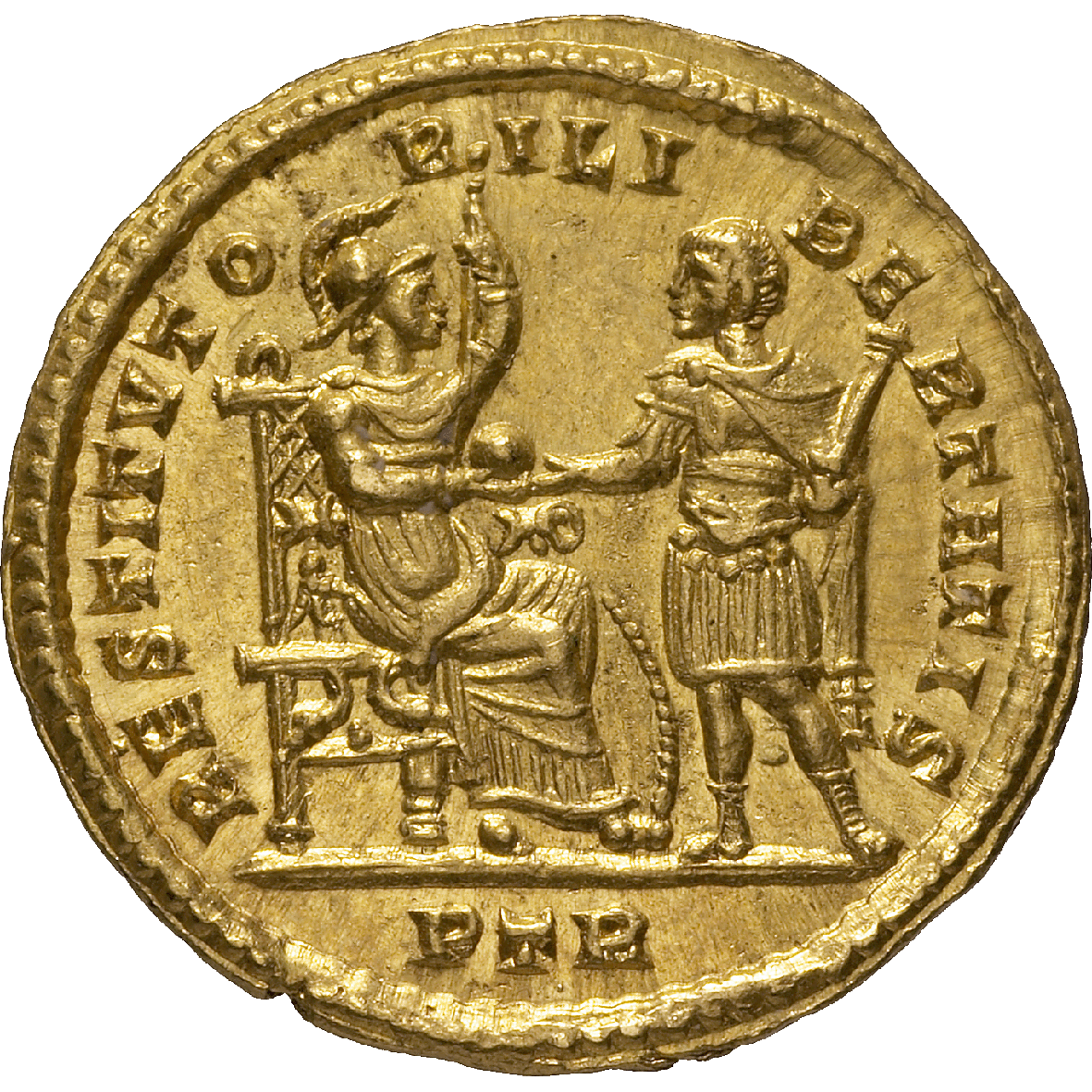 Roman Empire, Constantine I the Great, Solidus (reverse)