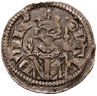 Holy Roman Empire, Prince-Bishopric of Treves, Baldwin of Luxembourg, Denarius (obverse)