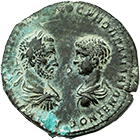 Roman Empire, Macrinus and Diadumenian, Bronze Coin (obverse)