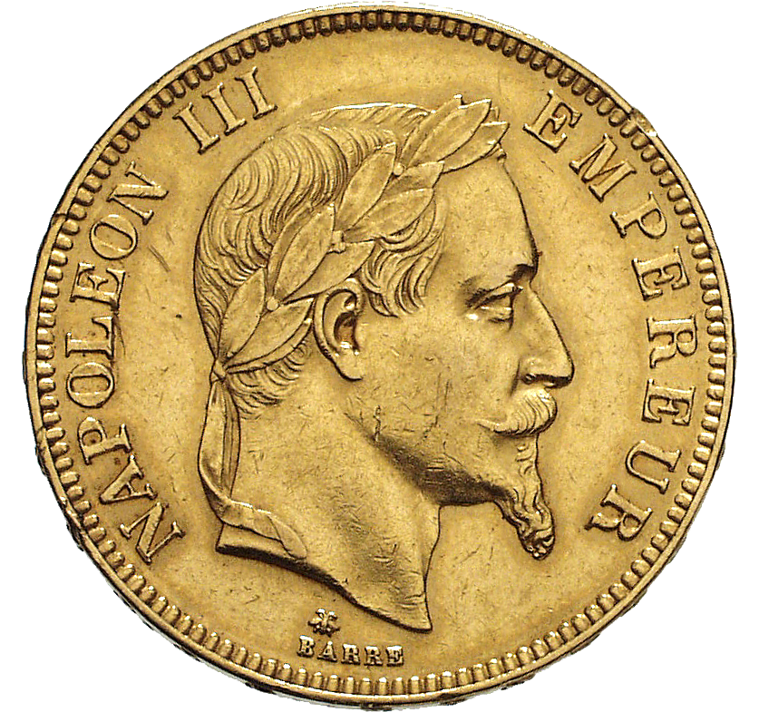 French Empire, Napoleon III, 100 Francs 1869 (obverse)