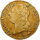 Kingdom of France, Louis XVI, Louis d'or 1787 (obverse)