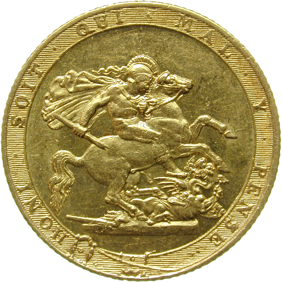 United Kingdom, George III, Sovereign 1817 (reverse)