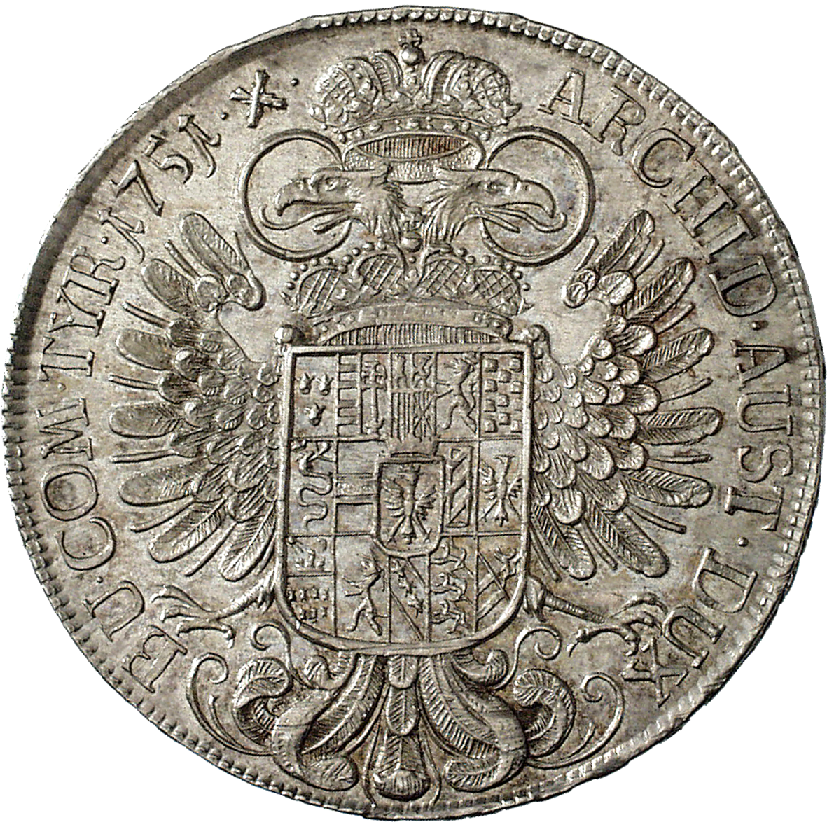 Holy Roman Empire, Archduchy of Austria, Maria Theresa, Taler 1751 (reverse)