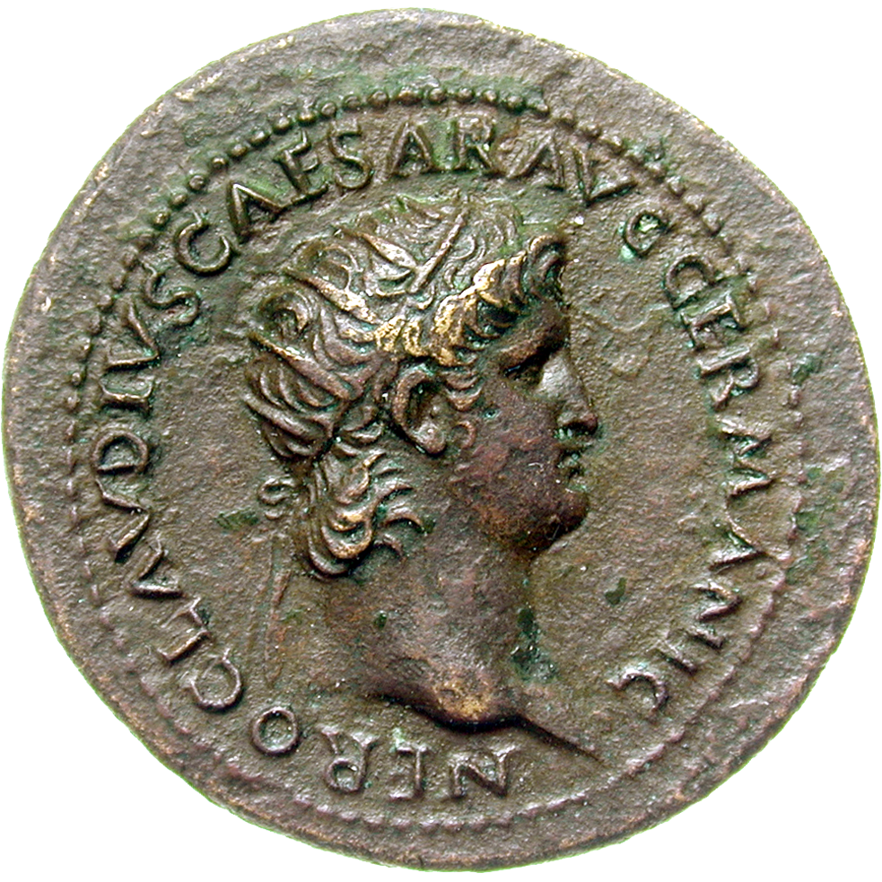 Roman Empire, Nero, As (obverse)