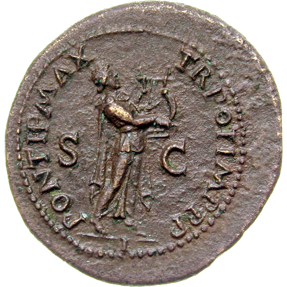 Roman Empire, Nero, As (reverse)