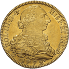 Kingdom of Spain, Charles III, 8 Escudos 1772 (obverse)