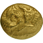 Kingdom of Lydia, Croesus, Heavy Gold Stater (obverse)