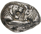 Kingdom of Lydia, Croesus, Stater (obverse)