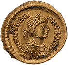 Empire of the Ostrogoths, Athalaric, Tremissis (obverse)