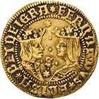 Kingdom of Spain, Isabella I and Ferdinand II, Double Excelente (obverse)