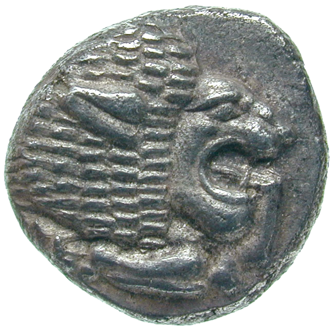 Persian Empire, Achemenids, Miletus, Obol (obverse)
