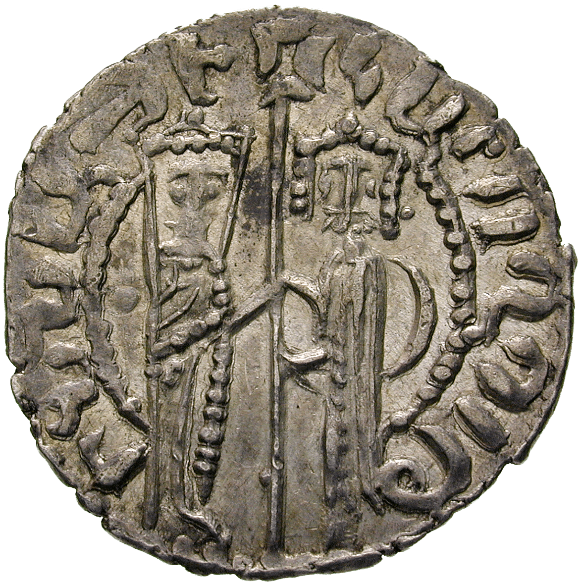 Kingdom of Lesser Armenia in Cilicia, Zabel and Hethum I, Tram (obverse)