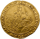 Kingdom of France, John II the Good, Franc à cheval (obverse)