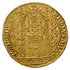 Kingdom of France, Charles V, Franc à pied (obverse)