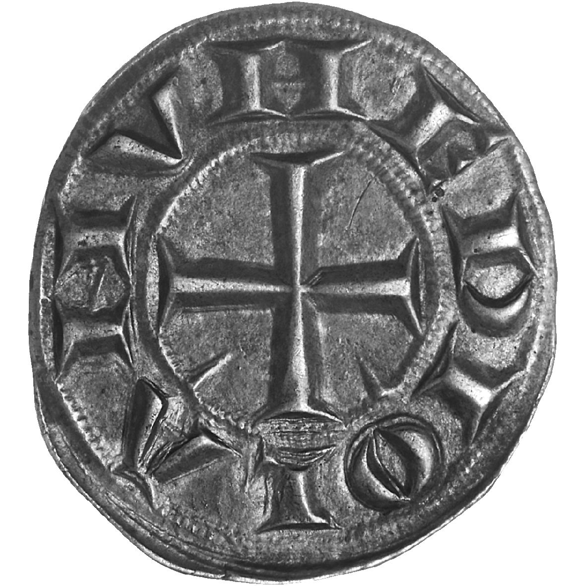 Holy Roman Empire, Frederick II of Hohenstaufen, Grosso of 6 Denarii (reverse)