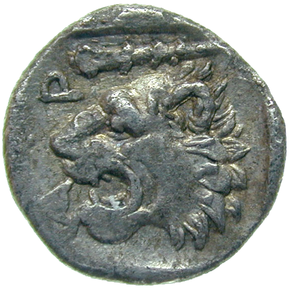 Kingdom of Macedonia, Archelaus I, Obol (reverse)