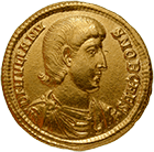 Roman Empire, Julian the Apostate as Caesar, Solidus (obverse)
